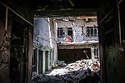 9 August 2018 – Mosul – Iraq – Inside a home that was taken over by ISIS militants in the Bab al-Jaded neighborhood of Ghizlani, West Mosul, which was hit by a rocket in March 2017. <br /> <br /> This home is amongst the houses due to be rehabilitated in West Mosul with the support of UNDP's Funding Facility for Stabilization (FFS). <br /> <br /> © UNDP Iraq / Claire Thomas