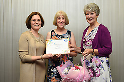 Lincolnshire Co-operative long service awards 2017 held at The Showroom, Lincoln.  Pictured, from left, Lincolnshire Co-operative chief executive Ursula Lidbetter, Margaret Wilkinson (40 years - Reception Head Office Lincoln) and Lincolnshire Co-operative president Julia Romney.<br /> <br /> Picture: Jane Harrison<br /> Date: September 20, 2017