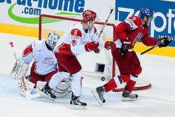 Milan Michalek of Czech Republic scores a goal during ice-hockey match between Czech Republic and Denmark of Group D of IIHF 2011 World Championship Slovakia, on May 2, 2011 in Orange Arena, Bratislava, Slovakia. (Photo by Matic Klansek Velej / Sportida)