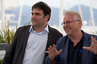 Director Romain Goupil<br /> and Daniel Cohn-Bendit at the La Traversee film photo call at the 71st Cannes Film Festival, Wednesday 16th May 2018, Cannes, France. Photo credit: Doreen Kennedy