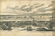 Galle, view of the town, Fort, harbour.<br /> From a photo by A.W. Andree