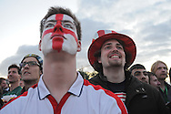 England-USA. Fan at Fan Park Hamburg,