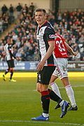 Brad Lyons of St Mirren showing what this game means to him and his side following an offside decision during the Ladbrokes Scottish Premiership match between St Mirren and Hamilton Academical FC at the Paisley 2021 Stadium, St Mirren, Scotland on 13 May 2019.