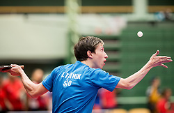 Luka Trtnik of Slovenia in action during 15th Slovenia Open - Thermana Lasko 2018 Table Tennis for the Disabled, on May 9, 2018, in Dvorana Tri Lilije, Lasko, Slovenia. Photo by Vid Ponikvar / Sportida
