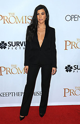 """Kourtney Kardashian at the premiere of """"The Promise"""" in Los Angeles, CA."""