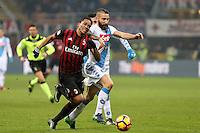 c - Milano - 21.01.2017 - Serie A 21a giornata  -  Milan-Napoli   - nella foto:  Carlos Bacca in lotta con Tonelli