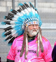 A Chiefs fan looks on  - Mandatory by-line: Alex Davidson/JMP - 13/01/2018 - RUGBY - Sandy Park Stadium - Exeter, England - Exeter Chiefs v Montpellier - European Rugby Champions Cup