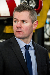 Pictured: Derek Mackay<br /> Today Finance Secretary Derek Mackay visit the Scottish Fire and Rescue Services' East HQ in Edinburgh ahead of a meeting with other finance ministers  on VAT costs. During his tour of the facilities, the Finance Secretary spoke to firefighters and staff prior to hosting the Finance Ministers Quadrilateral where he will raise the issue of the GBP35 million annual VAT cost faced by Scottish police and fire services in contrast to other territorial police and fire services in the UK.<br /> <br /> Ger Harley | EEm 14 February 2017
