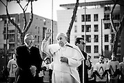 Rome mar 8th 2015, pope Francis visits the  church of S. Maria del Redentore, in the suburb of Tor Bella Monaca. In the picture pope Francis © PIERPAOLO SCAVUZZO