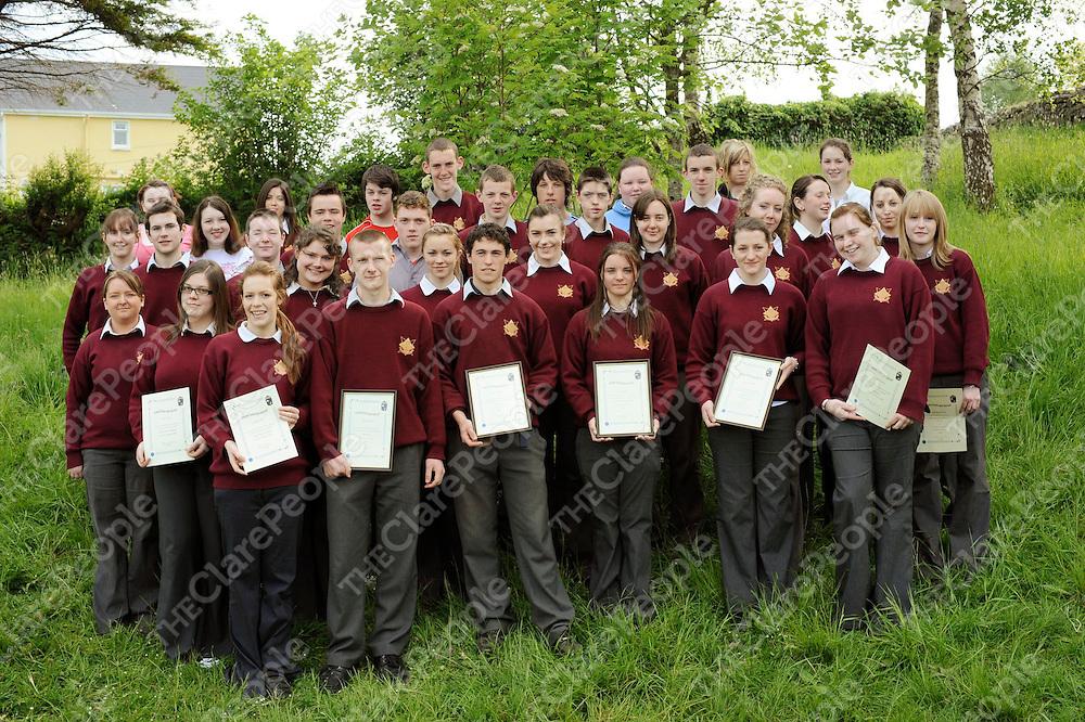 Senior- Bank of Ireland, Eacht and Spioraid award winners at St. Josephs Secondary School, Tulla.<br /><br />Patrick McHugh