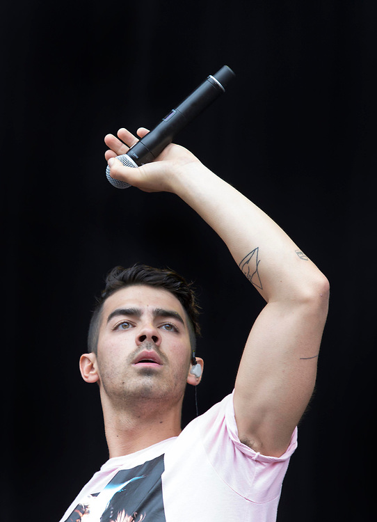 DNCE lead singer Joe Jonas entertains the crowd Saturday at Music Midtown in Piedmont Park.