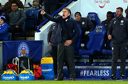 An animated Leicester City manager Claude Puel - Mandatory by-line: Robbie Stephenson/JMP - 28/11/2017 - FOOTBALL - King Power Stadium - Leicester, England - Leicester City v Tottenham Hotspur - Premier League