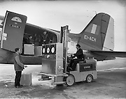 24/01/1958 <br /> 01/24/1958<br /> 24 January 1958<br /> <br /> Special for Aer Lingus - Unloading of APV Machines at Dublin Airport
