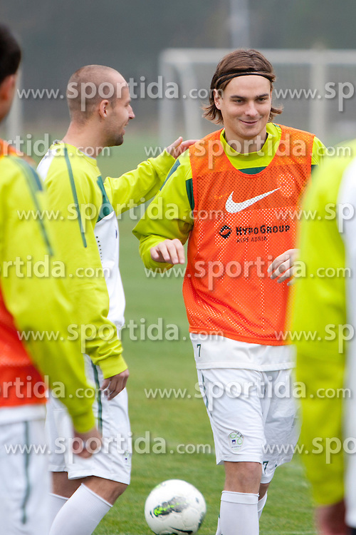 during the Slovenia training before friendly match between National teams of Slovenia and ZDA at Kidricevo, on  9th November, 2011 in Ptuj, Slovenia (Photo by Urban Urbanc / Sportida Photo Agency)