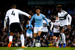 Leroy Sane of Manchester City takes on Fulham - Mandatory by-line: Robbie Stephenson/JMP - 01/11/2018 - FOOTBALL - Etihad Stadium - Manchester, England - Manchester City v Fulham - Carabao Cup
