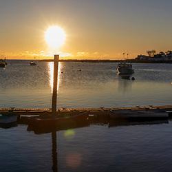 Sunrise at Rye Harbor, New Hampshire.