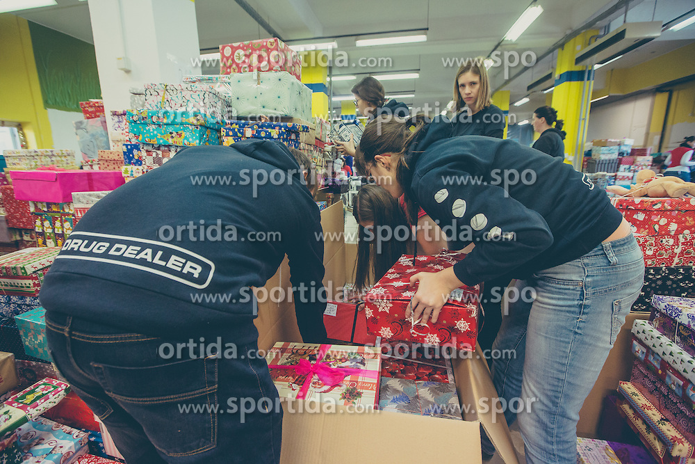 Humanitarian project for kids from socially disadvantaged families Bozicek za en dan, Slovenia, 12-14 December 2015. Photo By Grega Valancic / Sportida