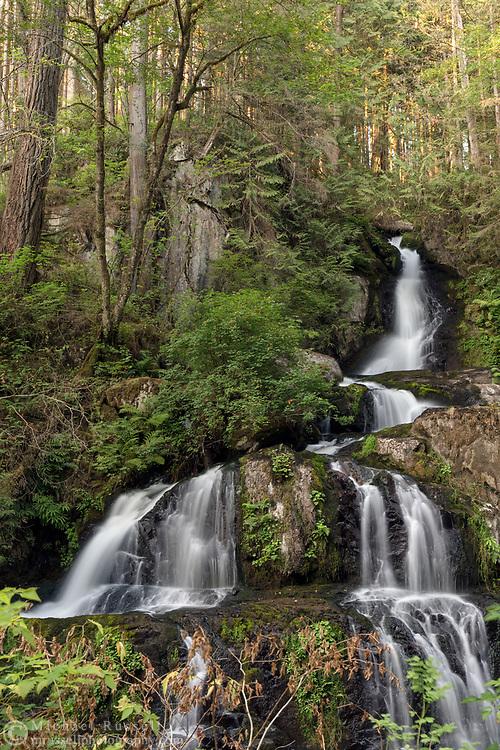 The upper section of Steelhead Falls on Steelhead Creek in the Hayward Lake Recreational Area in Mission, British Columbia, Canada