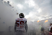Tampa Bay Buccaneers middle linebacker Mason Foster (59) takes the field prior to a game against the New Orleans Saints during an NFL game at Raymond James Stadium on Sept. 15, 2013 in Tampa, Florida. <br /> &copy;2013 Scott A. Miller
