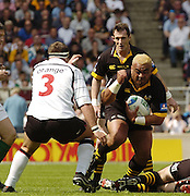 Twickenham, GREAT BRITAIN, 2004 Heineken Cup Final. Trevor Leota, on the attack., during the  London London Wasps v Toulouse, final at Twickenham on  23/05/2004  [Credit Peter Spurrier/Intersport Images].   [Mandatory Credit, Peter Spurier/ Intersport Images].