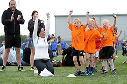 A team celebrates as they score - Photo mandatory by-line: Dougie Allward/JMP - Mobile: 07966 386802 - 06/06/2015 - SPORT - Multi-Sport - Bristol - SGS Wise Campus - Bristol Sport Festival Of Youth Sport - Festival Of Youth
