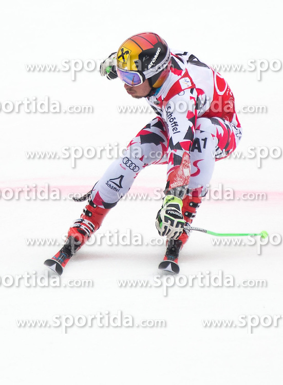28.02.2016, Hannes Trinkl Rennstrecke, Hinterstoder, AUT, FIS Weltcup Ski Alpin, Hinterstoder, Riesenslalom, Herren, 2. Lauf, im Bild Marcel Hirscher (AUT, 2. Platz) // 2nd placed Marcel Hirscher of Austria reacts after his 2nd run of men's Giant Slalom of Hinterstoder FIS Ski Alpine World Cup at the Hannes Trinkl Rennstrecke in Hinterstoder, Austria on 2016/02/28. EXPA Pictures © 2016, PhotoCredit: EXPA/ Johann Groder