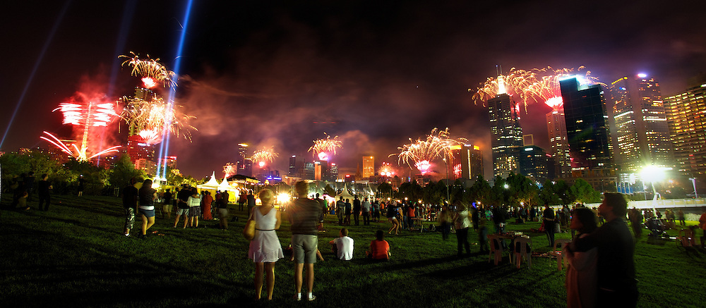 New years eve fireworks at Birrarung Marr. Pic By Craig Sillitoe CSZ/The Sunday Age.31/12/2011  Pic By Craig Sillitoe CSZ / The Sunday Age melbourne photographers, commercial photographers, industrial photographers, corporate photographer, architectural photographers, This photograph can be used for non commercial uses with attribution. Credit: Craig Sillitoe Photography / http://www.csillitoe.com<br />