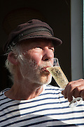 Peter Hall with the Cuvee Koizumi Yakumo at Breaky Bottom vineyard in Sussex, UK. CREDIT: Vanessa Berberian for The Wall Street Journal. UKWINE