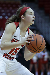 01 November 2017: Frannie Corrigan during a Exhibition College Women's Basketball game between Illinois State University Redbirds the Red Devils of Eureka College at Redbird Arena in Normal Illinois.