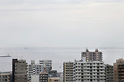 residential high rise looking out over Tokyo bay Japan