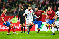 November 15, 2018 - Gdansk, Poland - Piotr Zielinski of Poland,Ondrej Celustka of Czech Republic during the international friendly soccer match between Poland and Czech Republic at Energa Stadium in Gdansk, Poland on 15 November 2018. (Credit Image: © Foto Olimpik/NurPhoto via ZUMA Press)