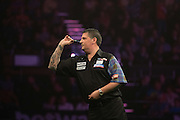 Gary Anderson in the Adrian Lewis v Gary Anderson match  at the Betway Premier League Darts,  Brighton Centre, Brighton & Hove, United Kingdom on 14 May 2015. Photo by Phil Duncan.