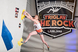 Vita Lukan (SLO) at Fnal of Climbing event - Triglav the Rock Ljubljana 2018, on May 19, 2018 in Congress Square, Ljubljana, Slovenia. Photo by Urban Urbanc / Sportida