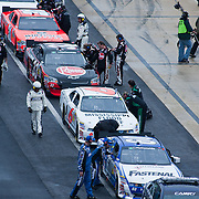 NASCAR Nationwide Series race about to get underway after an hour rain delay at Dover International Speedway in Dover Delaware...