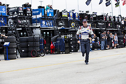 November 16, 2018 - Homestead, Florida, U.S. - Jimmie Johnson (48) runs through the garage during practice for the Ford 400 at Homestead-Miami Speedway in Homestead, Florida. (Credit Image: © Justin R. Noe Asp Inc/ASP)