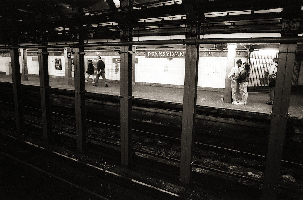 A picture shot during one day in the New York City Subway System, in 1989.