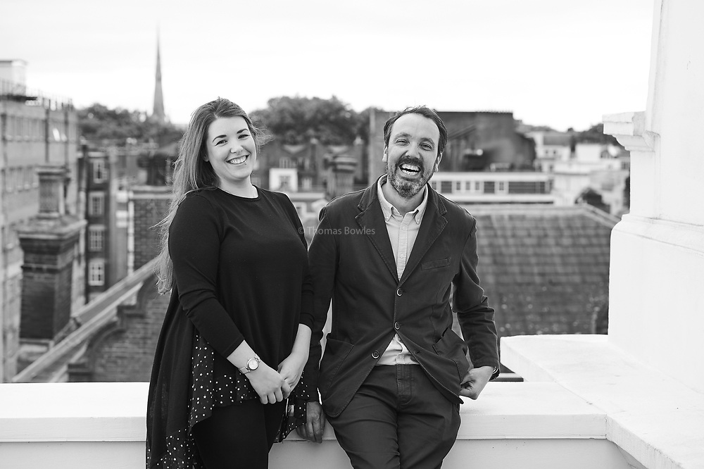 Sara Lewis - Head Chef and Edgard Helle - General Manager of the Pilgrim Hotel, Paddington, London. shot by Thomas Bowles