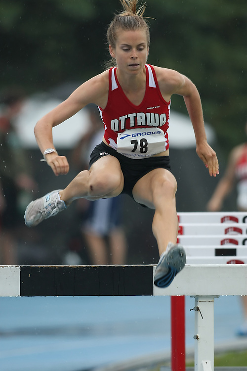 "(Ottawa, Ontario---20080628) ""Larocque, Leah"" competing in the steeple chase at the 2008 District G qualifier for the Royal Canadian Legion Ontario Track and Field Championships. This image is copyright Sean W. Burges, and the photographer can be contacted at seanburges@yahoo.com."