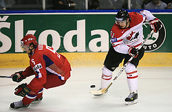 Ilya Nikulin (5) of Russia and Jason Spezza (91) of Canada at  ice-hockey game Canada vs Russia at finals of IIHF WC 2008 in Quebec City,  on May 18, 2008, in Colisee Pepsi, Quebec City, Quebec, Canada. Win of Russia 5:4 and Russians are now World Champions 2008. (Photo by Vid Ponikvar / Sportal Images)