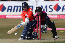 July 1, 2018 - London, Greater London, United Kingdom - Tammy Beaumont of England Women.during International Twenty20 Final match between England Women and New Zealand Women  at The Cloudfm County Ground, Chelmsford, England on 01 July 2018. (Credit Image: © Kieran Galvin/NurPhoto via ZUMA Press)