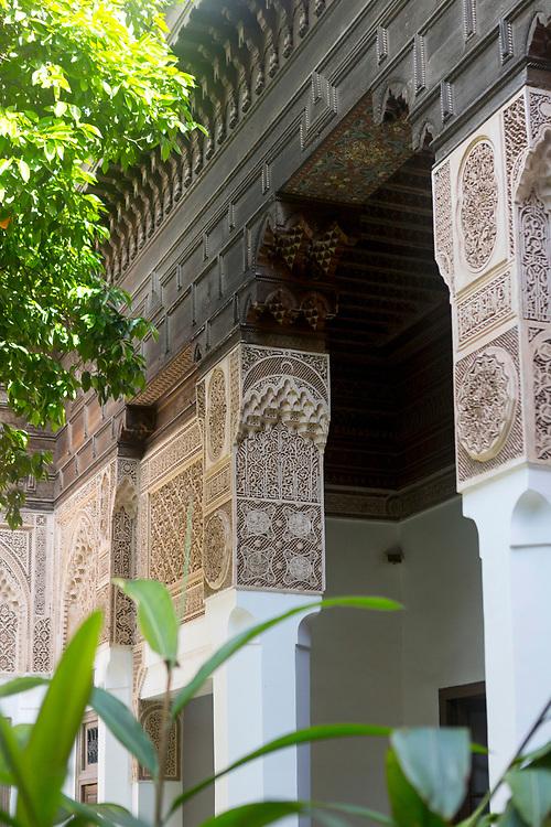 Bahia Palace riad garden courtyard space, Marrakesh, Morocco, 2018–04-25.