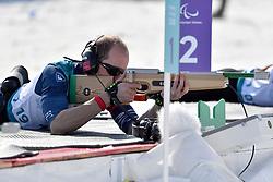 CHALENCON Anthony FRA B1 Guide: VALVERDE Simon competing in the ParaBiathlon, Para Biathlon at  the PyeongChang2018 Winter Paralympic Games, South Korea.