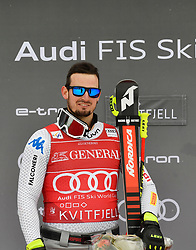 03.03.2019, Olympiabakken, Kvitfjell, NOR, FIS Weltcup Ski Alpin, SuperG, Herren, Siegerehrung, im Bild 1. Platz Dominik Paris (ITA) // race winner Dominik Paris of Italy during the winner Ceremony for the men's Super-G of FIS Ski Alpine World Cup. Olympiabakken in Kvitfjell, Norway on 2019/03/03. EXPA Pictures © 2019, PhotoCredit: EXPA/ SM<br /> <br /> *****ATTENTION - OUT of GER*****