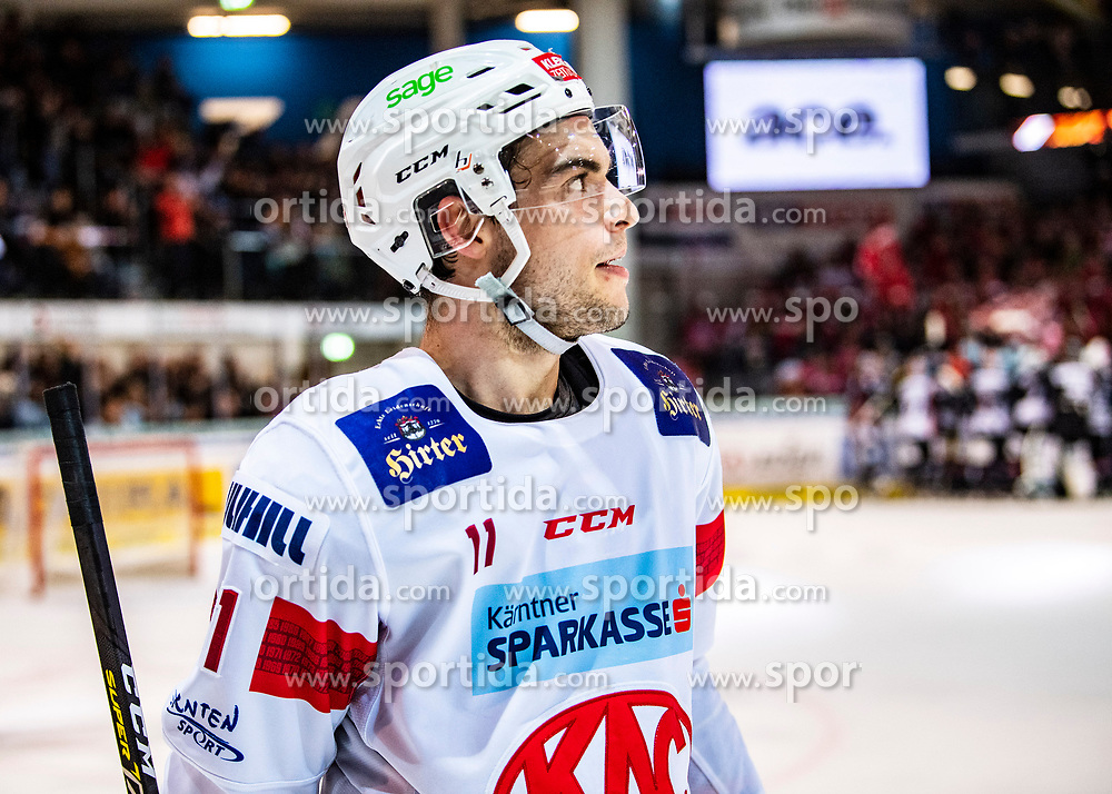 06.03.2020, Keine Sorgen Eisarena, Linz, AUT, EBEL, EHC Liwest Black Wings Linz vs EC KAC, Viertelfinale, 2. Spiel, im Bild Lukas Haudum (EC KAC) // during the Erste Bank Eishockey League 2nd quarterfinal match between EHC Liwest Black Wings Linz and EC KAC at the Keine Sorgen Eisarena in Linz, Austria on 2020/03/06. EXPA Pictures © 2020, PhotoCredit: EXPA/ Reinhard Eisenbauer
