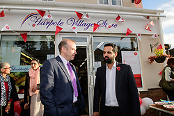 Pictured is Chris Heaton-Harris MP, left, with Harpole Post Office postmaster Manu Singh.<br /> <br /> Chris Heaton-Harris MP has officially opened the new Harpole Post Office at Harpole Village Store in High Street, Harpole, Northampton.<br /> <br /> Date: November 10, 2017