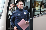 Forest Green Rovers assistant manager, Scott Lindsey during the EFL Sky Bet League 2 match between Oldham Athletic and Forest Green Rovers at Boundary Park, Oldham, England on 12 January 2019.