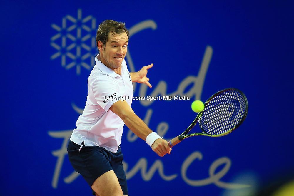Richard GASQUET - 06.02.2015 - Tennis - Open Sud de France- Montpellier<br /> Photo : Nicolas Guyonnet / Icon Sport
