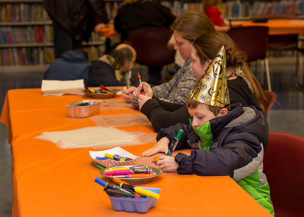Activities in the Akron-Summit County Public Library at First Night Akron 2017 on Dec. 31, 2016.