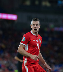 CARDIFF, WALES - Friday, September 6, 2019: Wales' captain Gareth Bale during the UEFA Euro 2020 Qualifying Group E match between Wales and Azerbaijan at the Cardiff City Stadium. (Pic by Mark Hawkins/Propaganda)