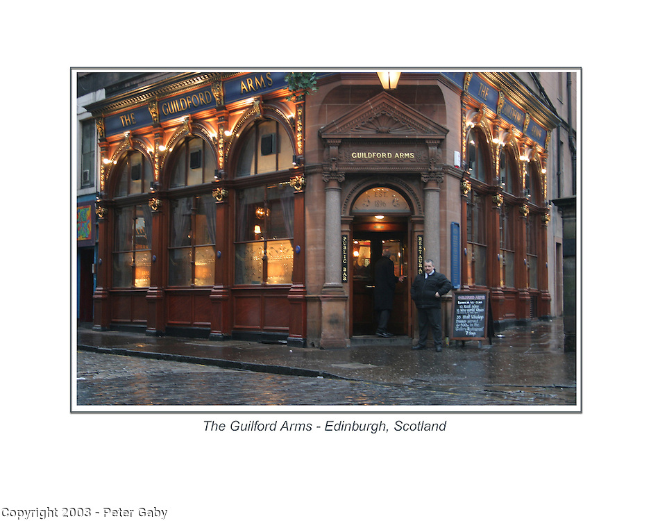 The Guilford Arms in Edinburgh, Scotland.<br />